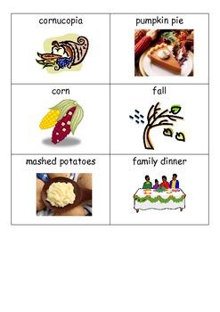US Thanksgiving Bingo Game