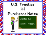 U.S. Treaties and Purchases Graphic Organizer