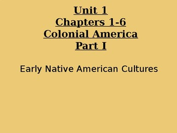 """US Unit 1 """"Early Colonial History"""" Unit Power Point Bundle"""