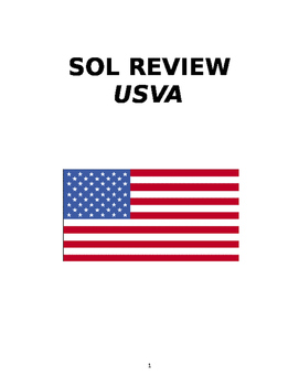 US Virginia SOL Review Packet