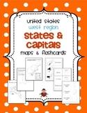 US West Region States & Capitals Maps