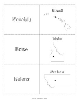 us west region states capitals maps