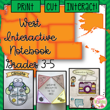 U.S. Western Region Interactive Notebook: Grades 3-5