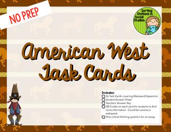 US Westward Expansion Task Cards