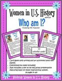 U.S. Women in History: Who Am I? Freebie in preview!