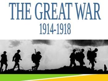 World War I Power Point 115 Slides for U.S. or World History