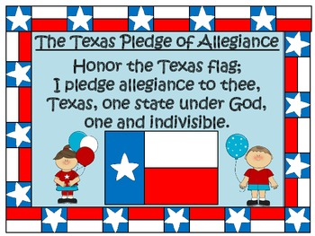 U.S. and Texas Pledge Posters