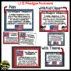 U.S. and Texas Pledge Posters ~ Polka Dot B/W Print