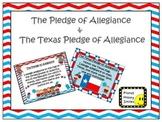 U.S. and Texas Pledge Posters ~ Zebra Print