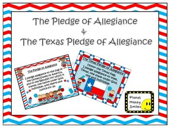 U.S. and Texas Pledge Posters ~ Zebra Print