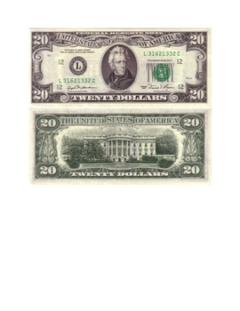 US bills Front and Back