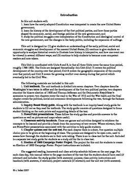 US history 1788-1861 complete 3 unit bundle, including text