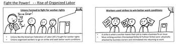 US history study guide - Industrialization - for Visual and Struggling learners