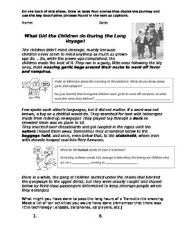 U.S immigration- informational text comprehension