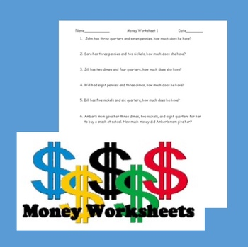 US money worksheet packet