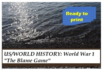 US or World History: WWI Blame Game