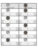 US quarter and dime Self Teaching multiple choice / flashc