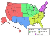 US regions colored