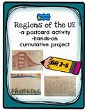 US regions postcard activity- cumulative project