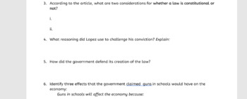 US v Lopez - The Powers of Congress case study