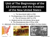 US1 Unit of The Beginnings of the 13 Colonies & the Creati