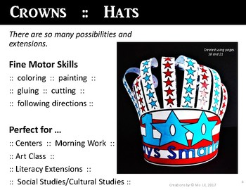 USA  100th Day of School Hat  ::  100th Day of School Activities