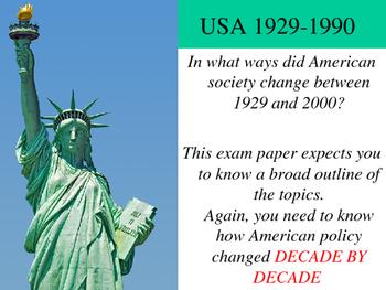 USA 1920 -1990