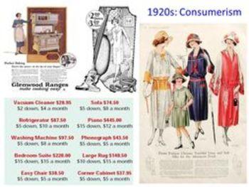 7. USA 1920s - IGCSE - Consumerism, Mobility, Novelty, Leisure