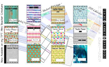 USA - 2018/2019 Teacher planner, grade book and 12 cover/divider choices!!