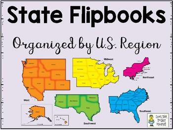 USA - 50 States Flip Books - Organized by U.S. Regions