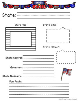 USA - 50 States Notebooking Pages
