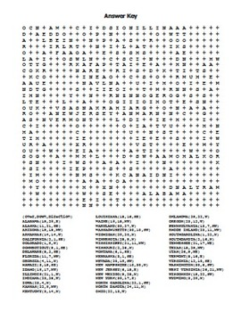 USA 50 States - Word Search... by Rich Carlson's TPT Store ...