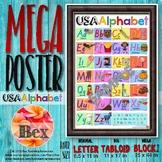 USA Alphabet Mega Poster