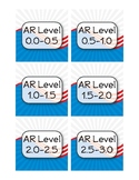 USA American Theme Accelerated Reader (AR) Labels