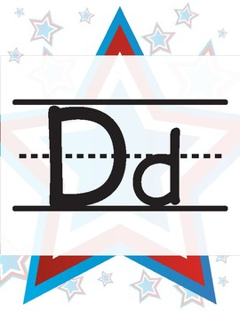 USA/American Theme Alphabet Posters
