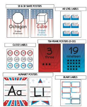 USA/American Themed Classroom Bundle