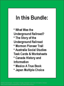 USA & Around the World Social Studies Bundle