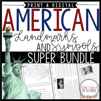 U.S.A. BUNDLE - Landmarks and Symbols: No-Prep Units and P
