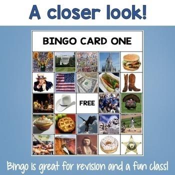 ESL games - USA bingo