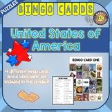 USA ESL Activities Bingo Cards