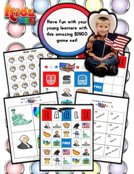 USA Bingo Matching Activities