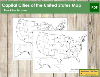 USA Capital Cities Control Map and Master