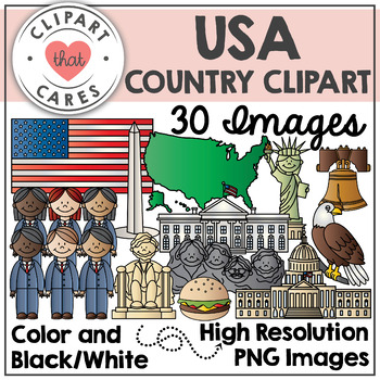 USA Clipart by Clipart That Cares
