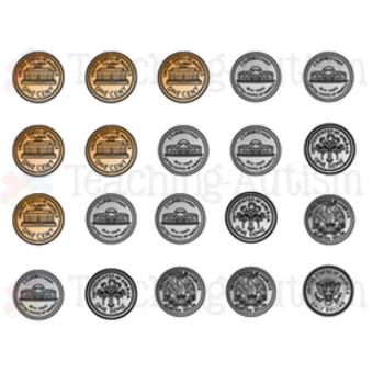 USA Coins Piggy Bank Matching