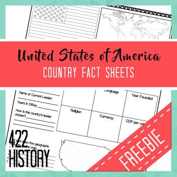 USA Country Fact Sheet FREEBIE