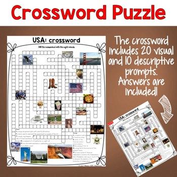 USA ESL/ELL Activity Crossword Puzzle