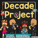USA Decade Project with Informational Articles