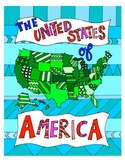 The United States Map DESIGN Coloring Page