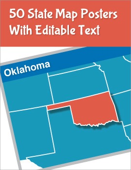 USA States Editable Posters