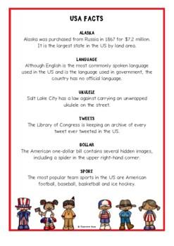 USA Fact Cards